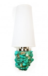 Veronica Sconce Turquoise lamp