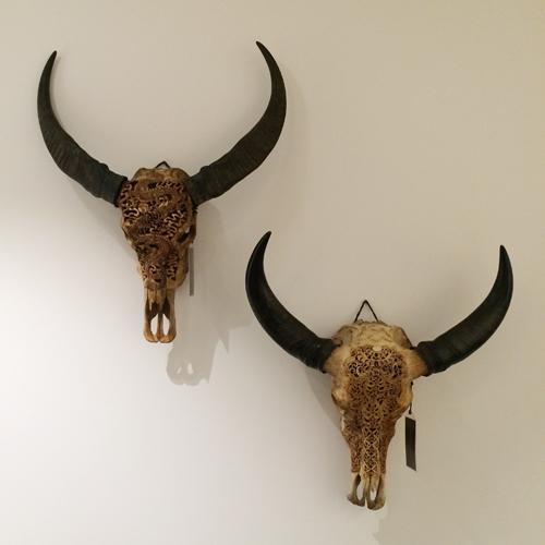 Texas - Carved Buffalo Skulls