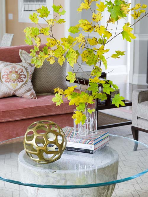 decorating with natural greenery