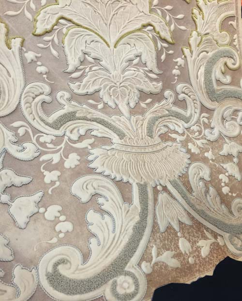 embroidered italian leather panels